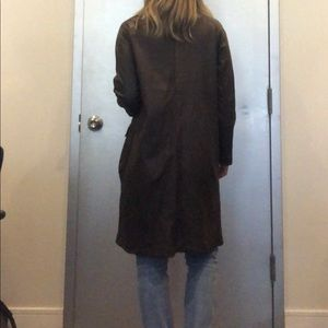 Marni Brown Leather Coat